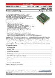 maxon motor maxon motor control 1-Q-EC ... - Maxon Motor ag