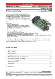 maxon motor maxon motor control 1-Q-EC Verstärker DECS 50/5 ...