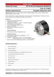 maxon motor maxon EC motor EC 45 flat mit integrierter Elektronik ...