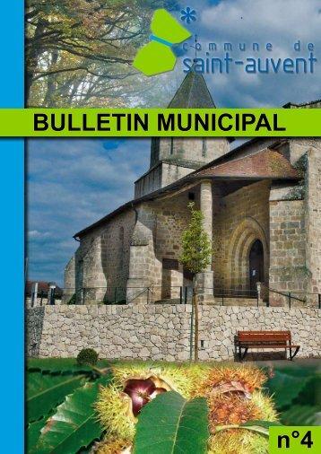 bulletin municipal Saint-Auvent N°4 - commune de Saint Auvent
