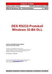 DES RS232-Protokoll Windows 32-Bit DLL - Maxon motor