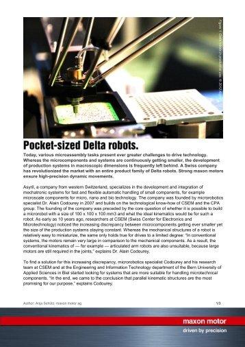 PDF - Pocket-sized Delta robots. - Maxon motor