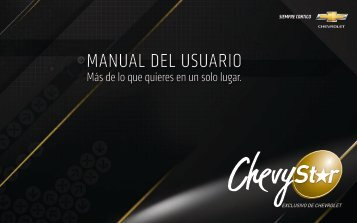 MANUAL DEL USUARIO - Chevrolet Colombia