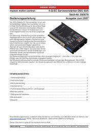 maxon motor maxon motor control 4-Q-EC Servoverstärker DES 50 ...