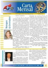 carta mensal nº 09 - abril 2009 - Distrito 4780