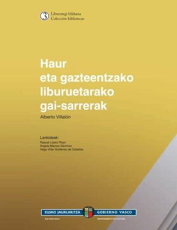 Cubierta HAUR - Kultura Saila - Euskadi.net