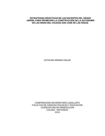 estrategias didácticas de las docentes del grado jardín, para ...