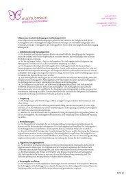 Allgemeine Geschäftsbedingungen Grafikdesign (AGG) - maYa birken