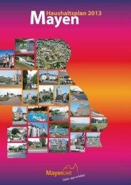 Haushaltsplan 2013 - Stadt Mayen