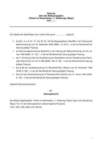 Satzung 29082012 - Stadt Mayen