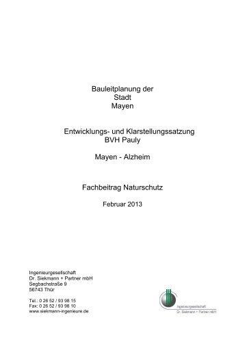 Fachbeitrag Naturschutz - Stadt Mayen