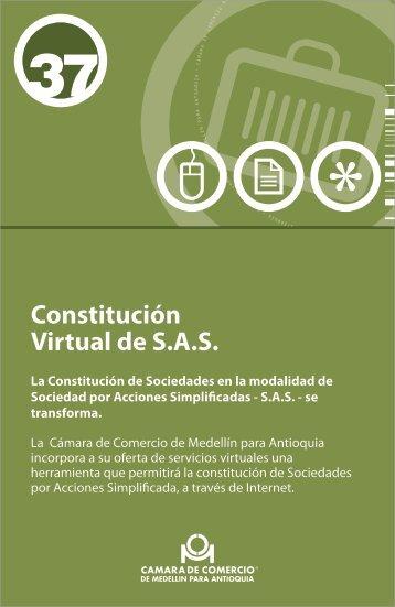 Constitución Virtual de S.A.S.