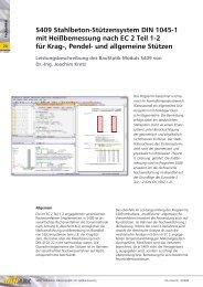 S409 Stahlbeton-Stützensystem DIN 1045-1 mit Heißbemessung ...