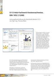 S113 Holz-Fachwerk Knotennachweise, DIN 1052 (12/08) - mb AEC ...