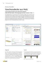 S202.de - Holz-Decke, Schwingungsnachweis - mb AEC Software ...