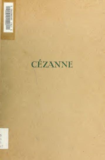 Cézanne und sein Kreis; ein Beitrag zur Entwicklungsgeschichte ...