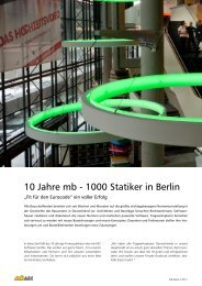 10 Jahre mb - 1000 Statiker in Berlin - mb AEC Software GmbH