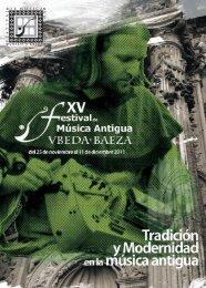 Tradición y Modernidad en la Música Antigua - Festival de Música ...