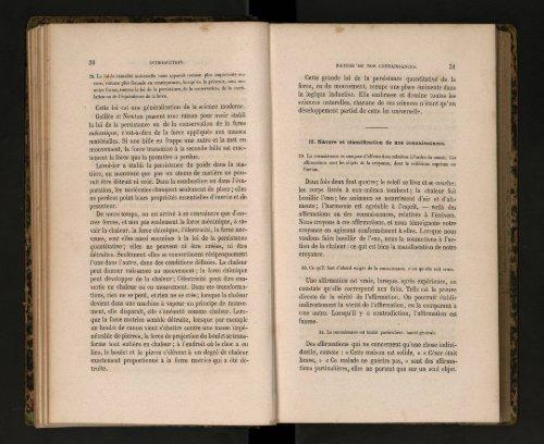 Nature et Classification des Connaissances. - cdigital