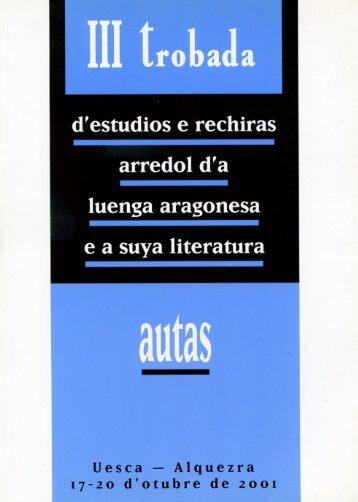 22. Estudios y rechiras arredol d´a lengua aragonesa y a suya ...