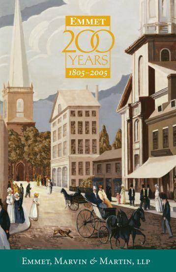 Download Bicentennial brochure (PDF) - Emmet, Marvin & Martin, LLP