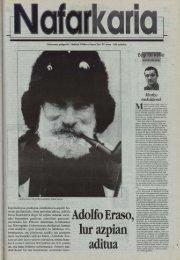 Adolfo Eraso, lur azpian aditua - Euskaltzaindia