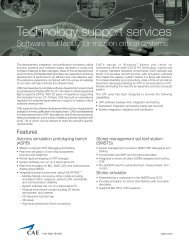 Technology support services - Software test facility for mission ... - CAE