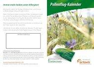 Pollenflug-Kalender - Actavis