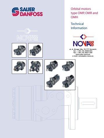 Orbital motors type OMP, OMR and OMH Technical Information - Nova