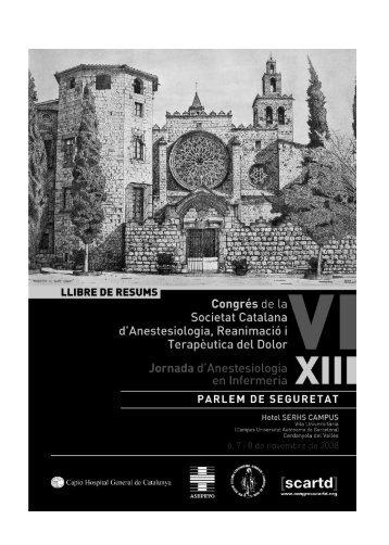 llibre de resums - Congrés de la Societat Catalana d'Anestesiologia ...