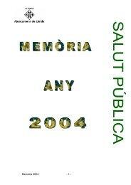 Memòria 2004 - 1 - - Ajuntament de Lleida