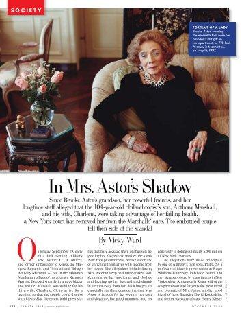 In Mrs. Astor's Shadow - Vicky Ward