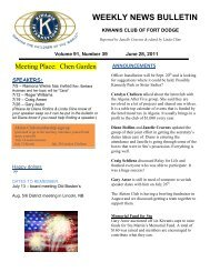WEEKLY NEWS BULLETIN - KiwanisOne.org