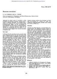Recurrent sarcoidosis - Thorax