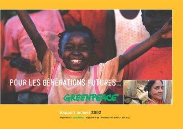 Rapport 2002 - Greenpeace