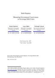 Debt Disputes Measuring Government Coerciveness in ... - CiteSeerX