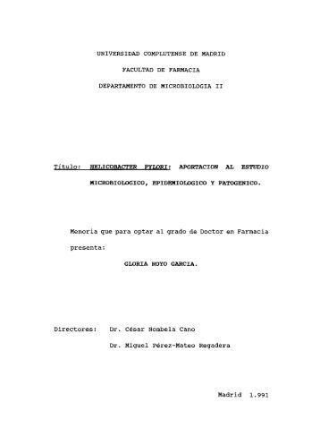 UNIVERSIDAD COMPLUTENSE DE MADRID FACULTAD DE ...