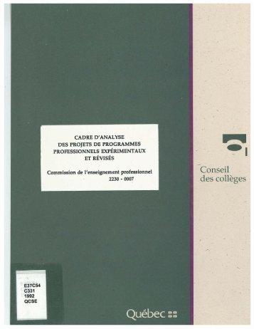Document complet - Conseil supérieur de l'éducation ...