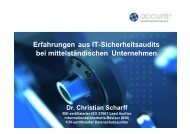 Erfahrungen aus It-Sicherheitsaudits bei mittelständischen ...