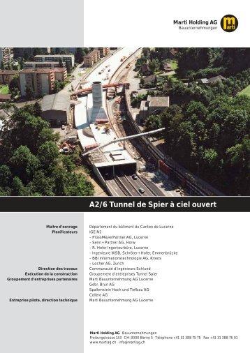 A2/6 Tunnel de Spier à ciel ouvert - Marti Holding AG