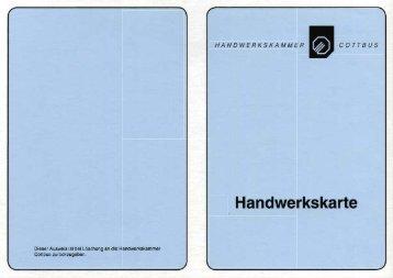 Handwerkskarte - adKor GmbH