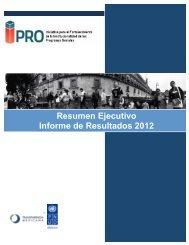 Resumen Ejecutivo Informe de Resultados 2012