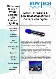BP-LCC-2-L Low Cost Monochrome Camera with Lights