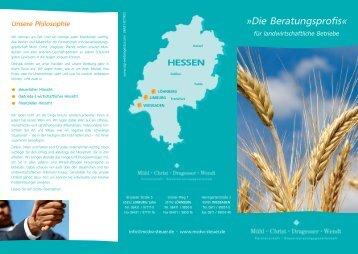 Flyer Landwirtschaftliche Betriebe - Mühl-Christ-Dragesser-Wendt ...
