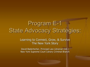 NY Slide Presentation as PDF - Criminal Law Library Blog