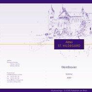 Abtei ST. HILDEGARD Weinbrevier