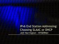 End Station Addressing, choosing SLAAC or DHCPv6
