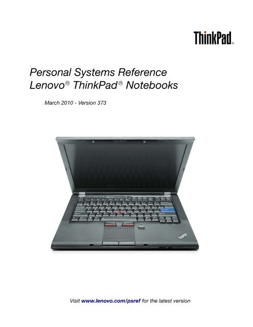 Lenovo ThinkPad W701ds Conexant Modem Drivers Update