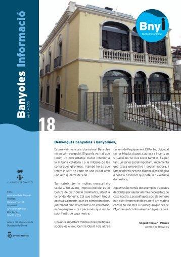 Número 18. Abril del 2013 - Ajuntament de Banyoles