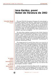 Imre Kertész, premi Nobel de literatura de 2002 - Temes d'avui